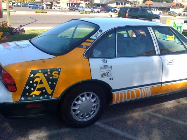 Oakland A's car