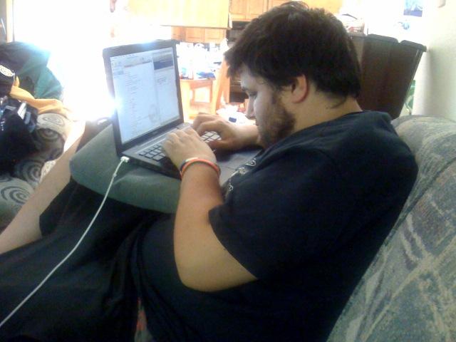 liveblogger at work