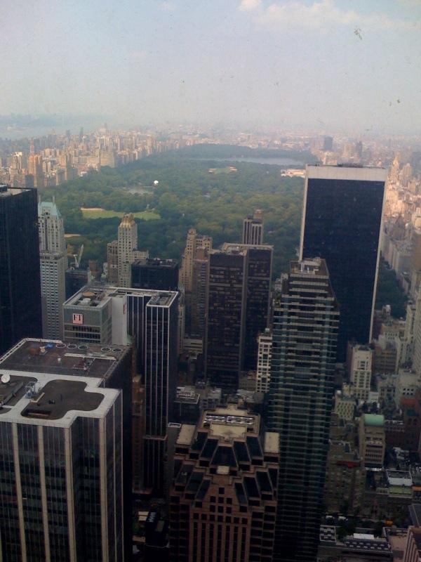 view from Rockefeller Center, 67th floor