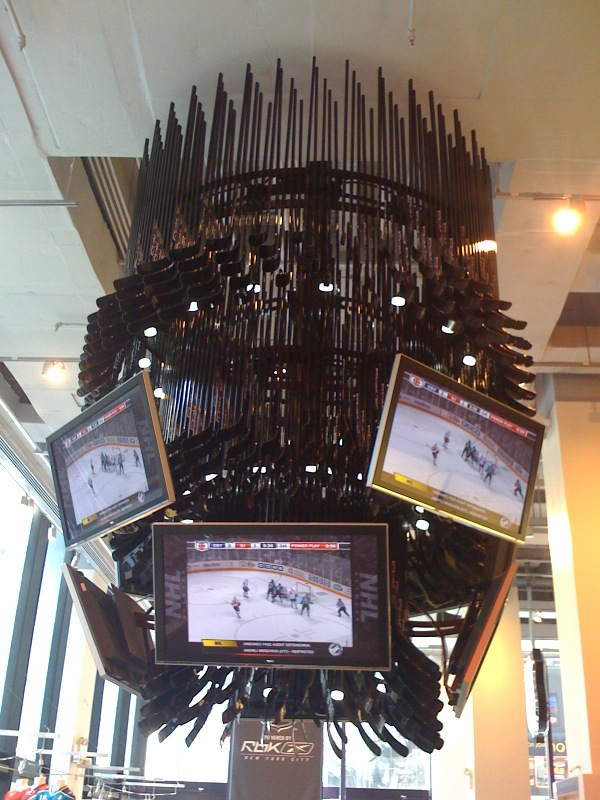 Hockey stick sculpture
